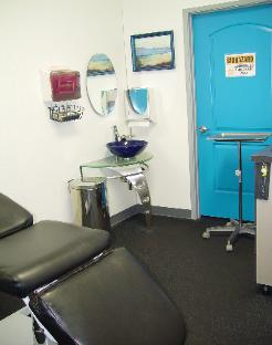 Picture of Mystical Body Piercing Shop Procedure Room. MODESTO, CA